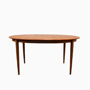 Extendable Oval Teak Dining Table by Kai Kristiansen for Skovmand Andersen