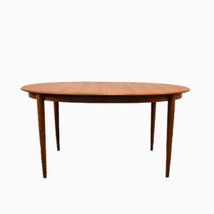 Extendable Oval Teak Dining Table by Kai Kristiansen for Skovmand Andersen