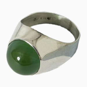 Silver and Chrysoprase Ring from Kaplans