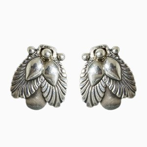 Silver Earrings by Gundorph Albertus, Set of 2