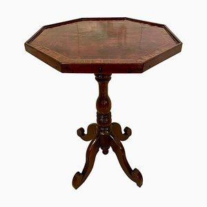 Antique New Zealand Victorian Lamp Table by W H Jewell Christchurch, 19th Century