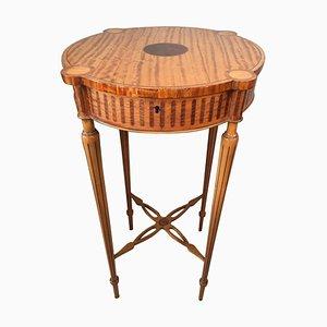 Antique Inlaid Satinwood Centre Table, 19th Century