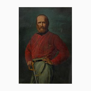 Desconocido, Portrait of Young Giuseppe Garibaldi, óleo sobre cobre, siglo XIX