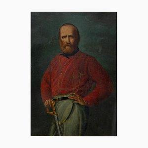 Unbekannt, Porträt des jungen Giuseppe Garibaldi, Öl auf Kupfer, 19. Jahrhundert