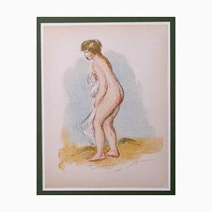 Pierre-Auguste Renoir, Bañista de pie, litografía