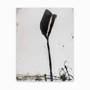 Baribeau, Stem In Black #1, 2018, Charcoal and Oil on Paper
