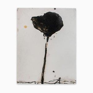 Baribeau, Tige en Noir # 4, 2018, Charbon et Huile sur Papier