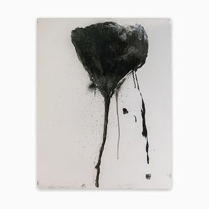 Baribeau, Stem In Black #7, 2019, Charcoal and Oil on Paper