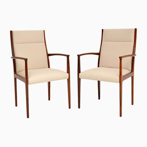 Vintage Danish Carver Dining Chairs, 1960s, Set of 2