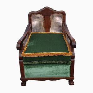 Vintage Viennese Straw Lounge Chair