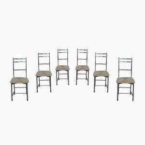 Aluminium Bagutta Stühle von Ycami, 1980er, 6er Set