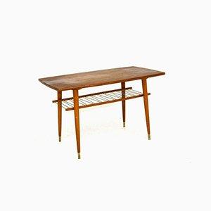 Swedish Teak & Beech Coffee Table, 1960s