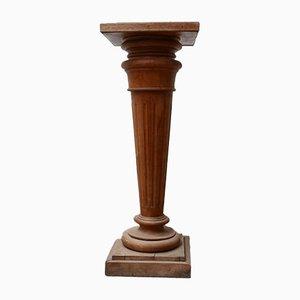 Französischer Säulenständer aus Holz mit Säulen aus Marmor