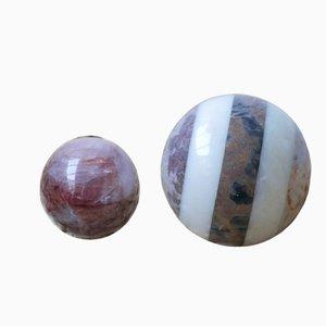 Set da ballo vintage in marmo, set di 2