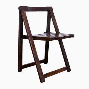 Chaise Pliante Aldo Jacober Style en Hêtre, 1970s