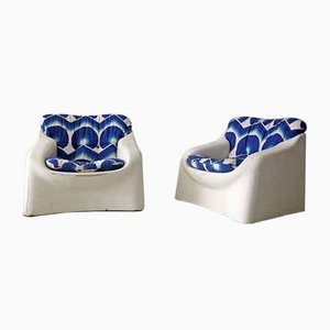 Italian Fiberglass Garden Lounge Chairs from Mod Depositato, 1970s, Set of 2