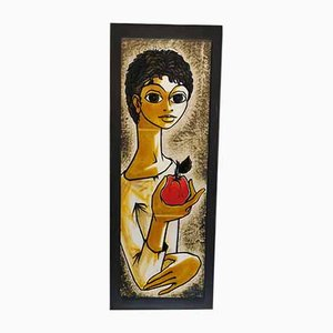 Painted Wall Plate by Pirot, 1960s