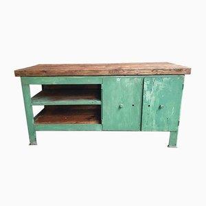 Stahl & Holz Werktisch, 1970er