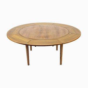 Tavolo da pranzo Lotus allungabile in teak di Dyrlund, anni '60