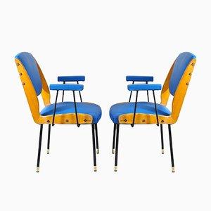 Italian Carlo De Carli Style Lounge Chairs, 1950s, Set of 2