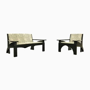 Hill House Living Room Set by Charles Rennie Mackintosh for Cassina, 1980s, Set of 2