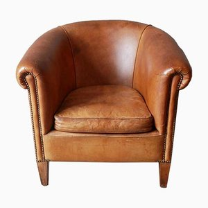 Vintage Dutch Sheepskin Club Chair from Nico van Oorschot