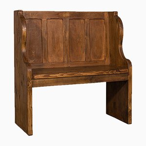 English Wooden Pew, Early 1900s