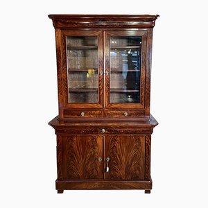 French Mahogany & Glass Bookcase, 1800s