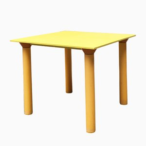 Yellow Plastic Dining Table from Kartell, 1970s