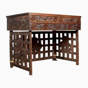 Chinese Hardwood Campaign Desk, 1800s