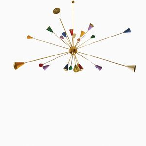 Large Colorful Sputnik Chandelier