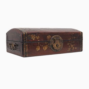 Meiji Period Japanese Leather Jewellery Box, Early 1900s