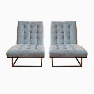 Moderne amerikanische Milo Baughman Style Sessel, 1970er, 2er Set