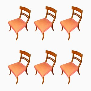 Antique English Regency Style Mahogany Dining Chairs, Set of 12