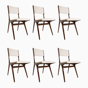Model 158 Dining Chairs by Carlo de Carli for Cassina, 1953, Set of 6