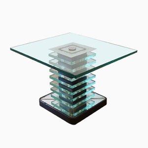 Italian Glass Coffee Table by Pietro Chiesa for Fontana Arte, 1940s