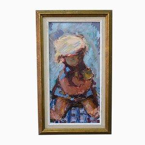 Eric Lo Ohlqvist (Eric Loo), Moderne Schwedische Malerei, Öl auf Holz, 1960er