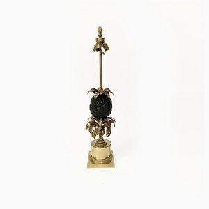Französische Bronze Ananas Lampe von Maison Charles, 1950er