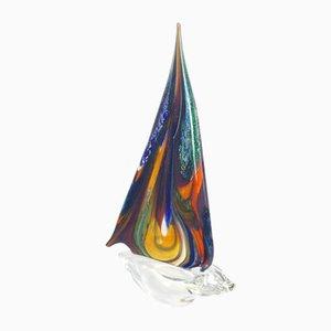 Bicchiere Barca a Vela in vetro di Murano di Valter Rossi per VRM