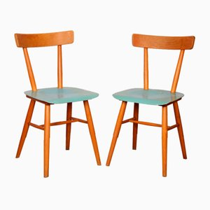 Wooden Dining Chairs from TON, 1960s, Set of 2