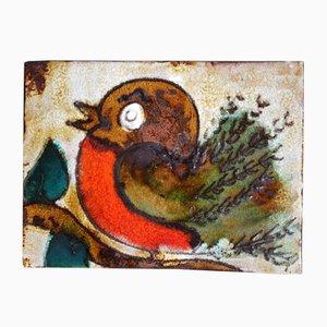 763 Sparrow Plaque aus Keramik von Ruscha, 1960er