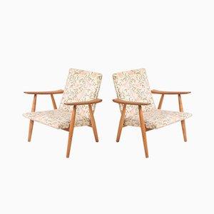 Dänische Eichenholz GE260 Sessel von Hans J. Wegner für Getama, 1960er, 2er Set