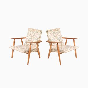 Danish Oak GE260 Lounge Chairs by Hans J. Wegner for Getama, 1960s, Set of 2