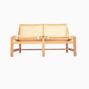 Danish Mahogany & Leather Sofa by Rud Thygesen & Johnny Sørensen for Magnus Olesen, 1980s