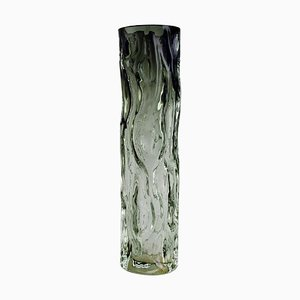 Scandinavian Artificial Art Glass Glass Vase in Dark and Clear Shades