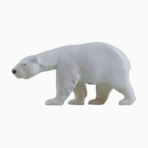 Porcelain Number 320 Walking Polar Bear Figurine from Royal Copenhagen