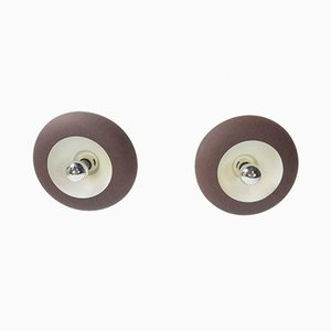 Vintage Space Age Disc Wall Lights, 1960s, Set of 2