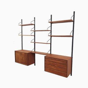 Teak Wall Unit by Poul Cadovius for Royal System, Denmark, 1950s
