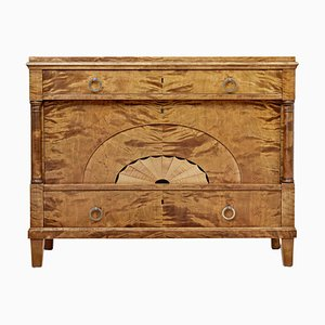 Art Deco Inlaid Birch Chest of Drawers