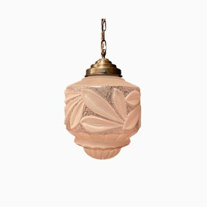 Art Nouveau Glass Ceiling Lamp